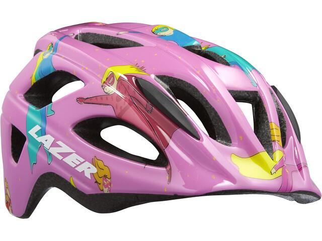 Lazer P'Nut Helmet Juniors pink supergirl